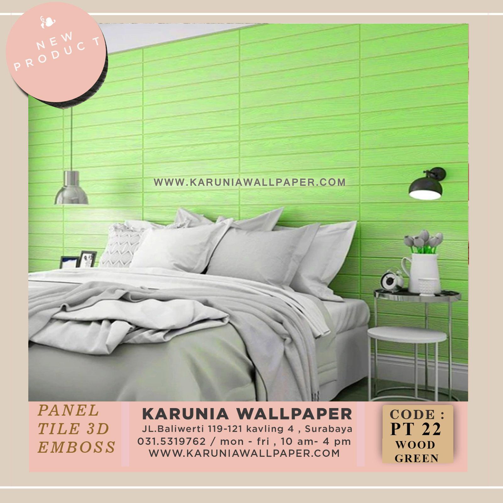 jual wallpaper kayu hijau