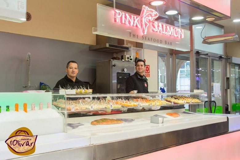 Pink Salmon en el Mercado del Olivar