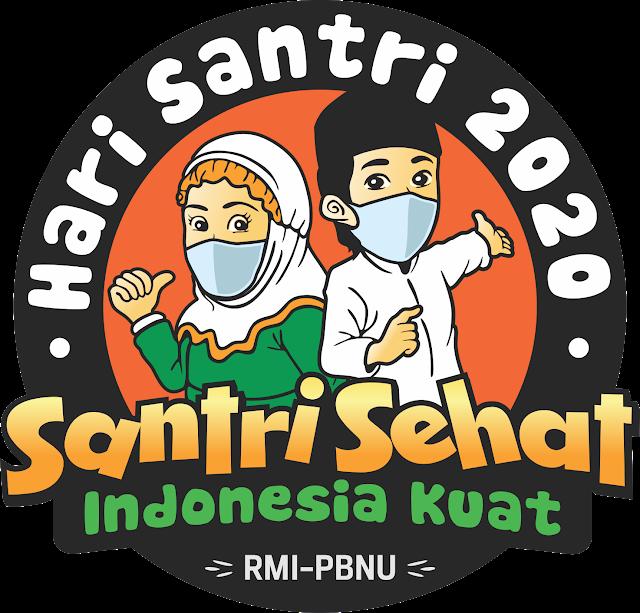 logo hari santri 2020 png