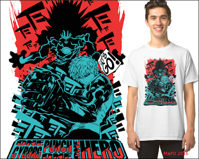 genos+cyberdemond+one punch man+t-shirt+buy+redbubble