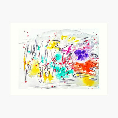 Colorful Abstract doodle By Miabo Enyadike