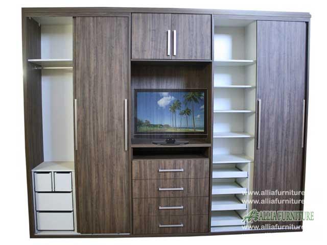 lemari baju tv minimalis model java