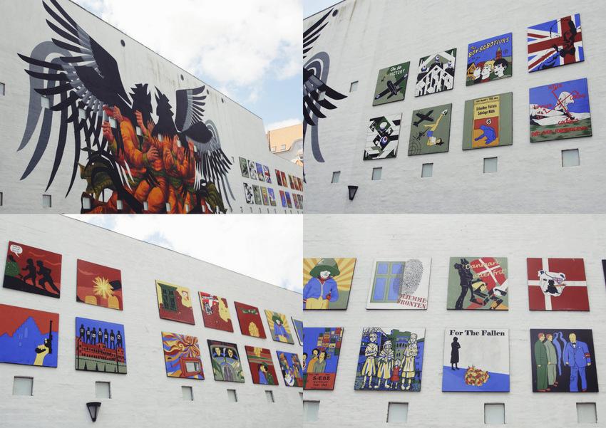 Murale upamiętniające II Wojnę Światową