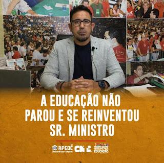 APEOC - A EDUCAÇÃO NÃO PAROU E SE REINVENTOU SR. MINISTRO
