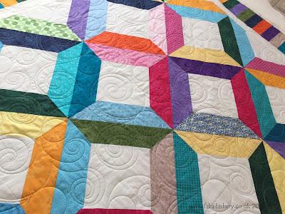 Margaret's Bright Modern Quilt, featuring Snowballs