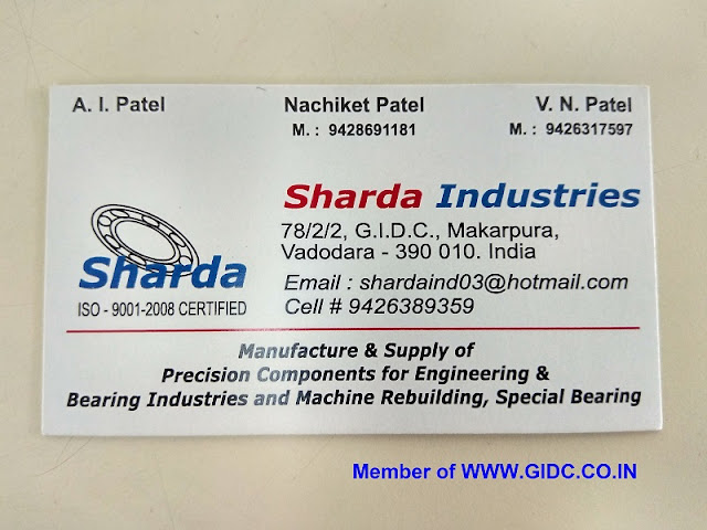 SHARDA INDUSTRIES 78/2/2, GIDC Makarpura, Vadodara - 390010