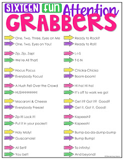 16 attention grabbers teachers can use to bring the class back to them