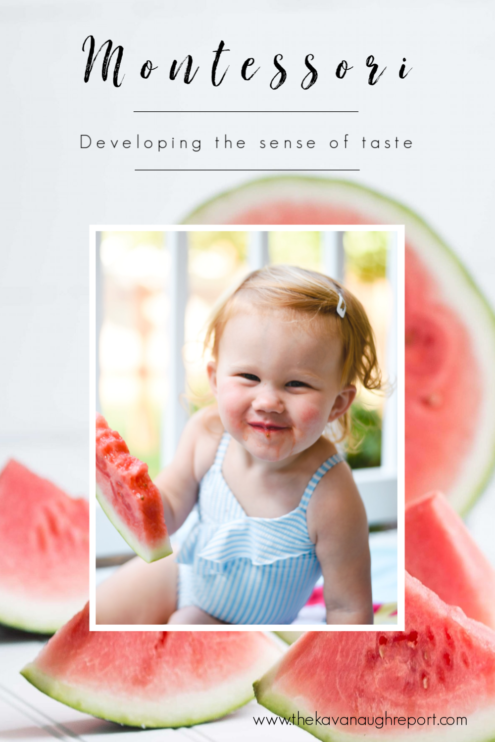 Montessori ideas for developing the sense of taste - and why it is important