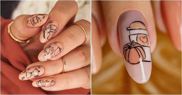 kawa na paznokciach