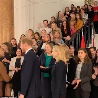 Meghan Markle and Prince Harry return to Canada House London Jan 7th 2020