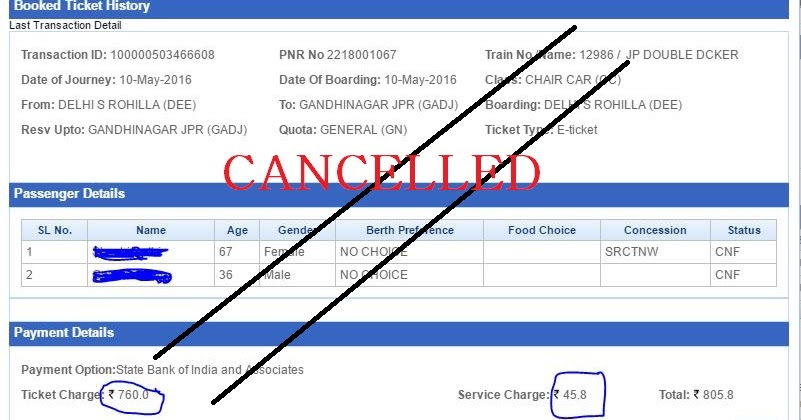 Latest Irctc Cancellation Charges