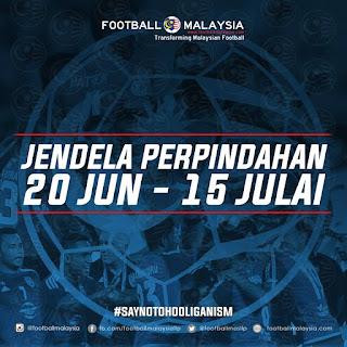 Senarai Perpindahan Kedua Jun Liga Malaysia 2016