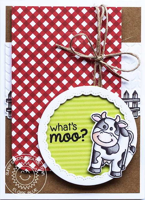 Sunny Studio Stamps: Barnyard Buddies Card by Eloise Blue