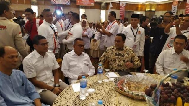 Anies, Sandiaga Uno hingga Riza Patria Hadiri Rakerda Partai Gerindra