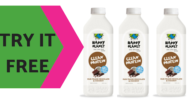 FREE 900mL Bottle of Happy Planet's Dairy Free Smoothie