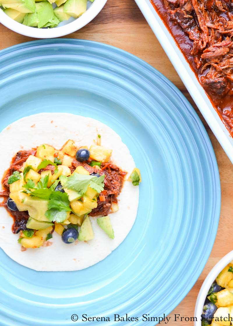 Smoked Pulled Beef Chuck Tacos are the BEST Tacos! The Smoked Pulled Beef is also delicious for nachos, enchiladas or burritos from Serena Bakes Simply From Scratch.
