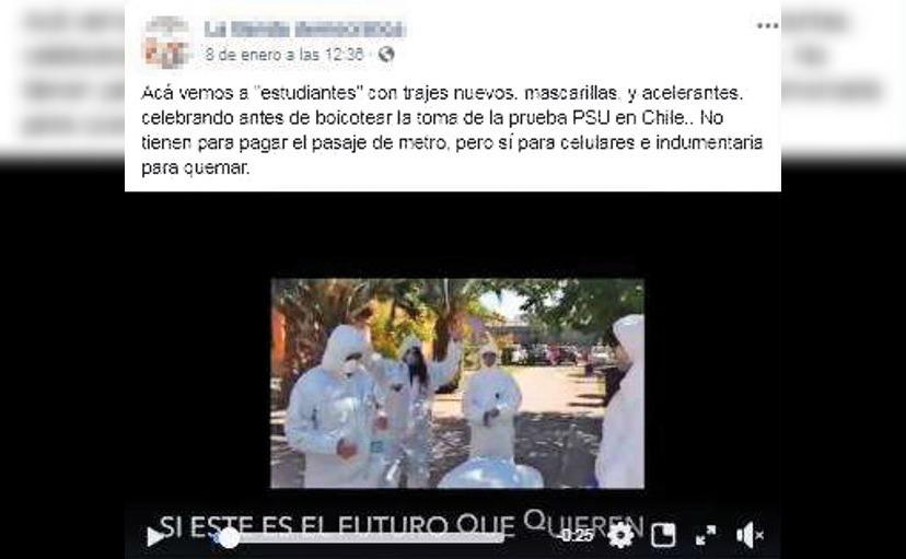 Video de escolares que iban a sabotear la PSU con químicos era en realidad una clase de química