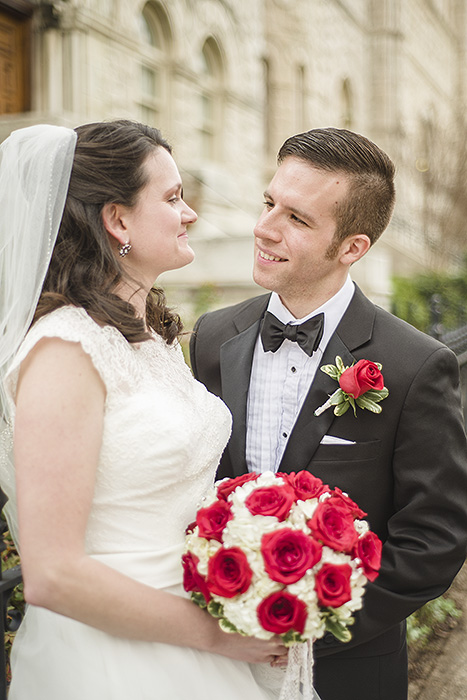 Wedding Portrait at St. Peter's on Capitol Hill