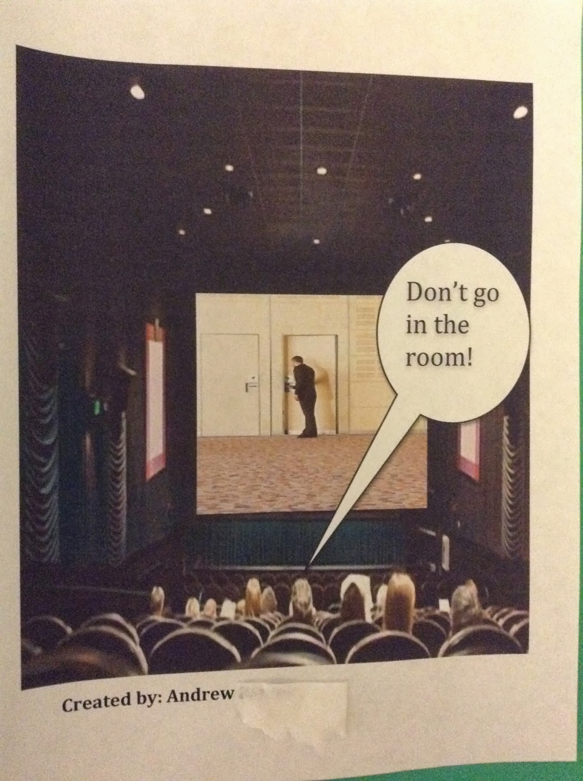 Mrs Jaffe S Bulletin Board Picturing Irony