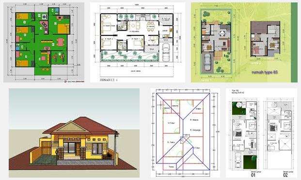 Gambar Denah Rumah Sederhana Tiga Kamar 2020