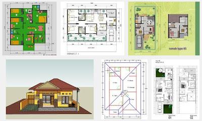 denah rumah sederhana 3 kamar tidur: desain rumah