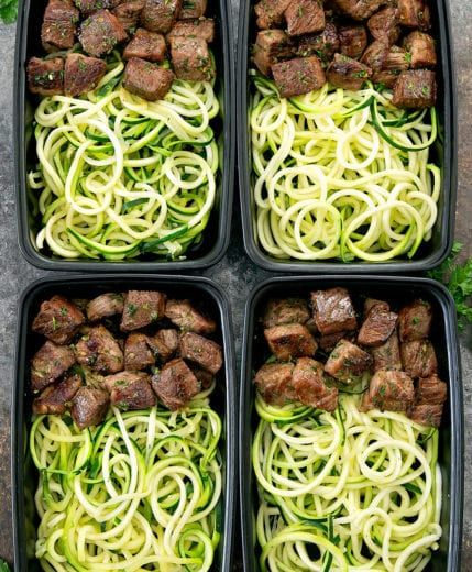 GARLIC BUTTER STEAK BITES WITH ZUCCHINI NOODLES MEAL PREP #recipes #dinnerrecipes #quickdinnerrecipes #deliciousdinnerrecipes #quickanddeliciousdinnerrecipes #food #foodporn #healthy #yummy #instafood #foodie #delicious #dinner #breakfast #dessert #lunch #vegan #cake #eatclean #homemade #diet #healthyfood #cleaneating #foodstagram