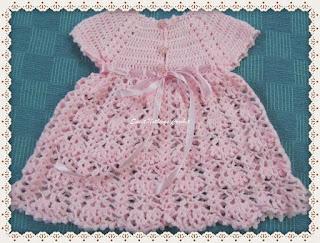 crochet baby dres