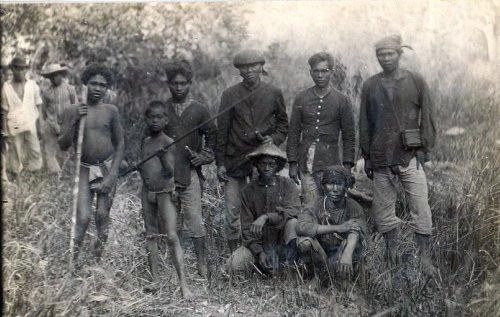 Tagalog hunters with Aeta tribesmen