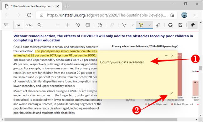 أضف حفظ التعليق في PDF باستخدام Microsoft Edge