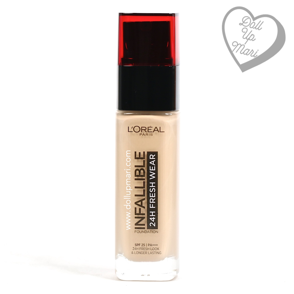 Bottle Front of L'Oréal Paris Infallible 24HR Fresh Wear Liquid Foundation SPF25PA+++ in shade Golden Beige
