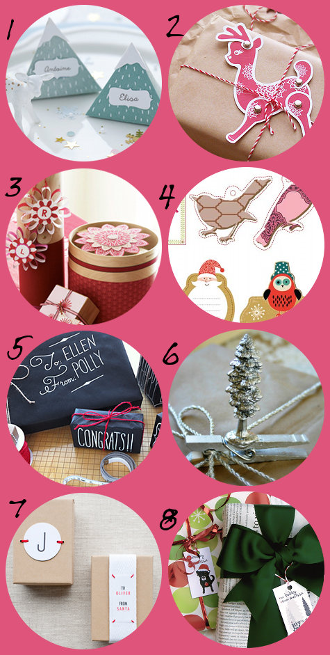 Pretty Handmade DIY Christmas Gift Wrap Ideas and Free Printables