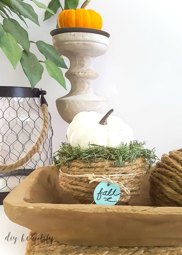 Add this DIY rope bowl to your fall decor!
