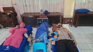 HUT Polantas, Satlantas Polres Bone Gelar Bakti Sosial Donor Darah