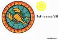 sol na casa 8