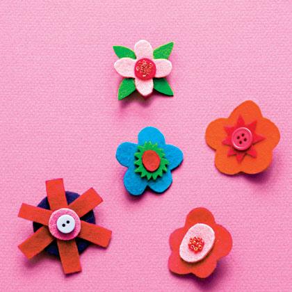 Felt Flower Pins
