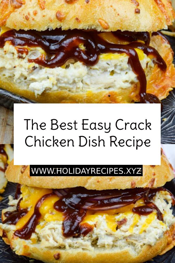 The Best Easy Crack Chicken Dish Recipe - You'll be addicted to Crack Chicken faster than you can say bacon, ranch, and cheese! This creamy dish can morph to sandwiches, dips, pasta, or even soup. #chicken #chickendish #dish #maindish #crackchicken #chickenrecipe #easychickenrecipe #dinner #easydinnerrecipe #easydish #bestchickenrecipe #bestdinner #recipeoftheday