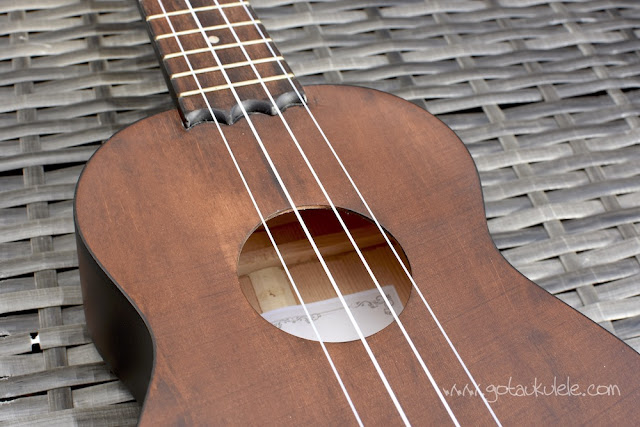 Barnes and Mullins Bowley Ukulele sound hole