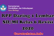 RPP Daring 1 Lembar SD/MI Kelas 6 Revisi 2020