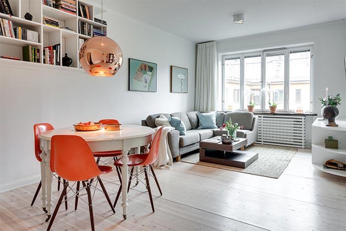 Hogar diez estilo n rdico en 45 m2 for Decoracion salon estilo nordico