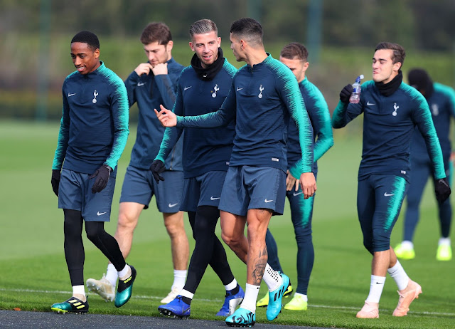 Tottenham first-team to return back to training