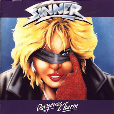 metal album blonde woman blindfolded
