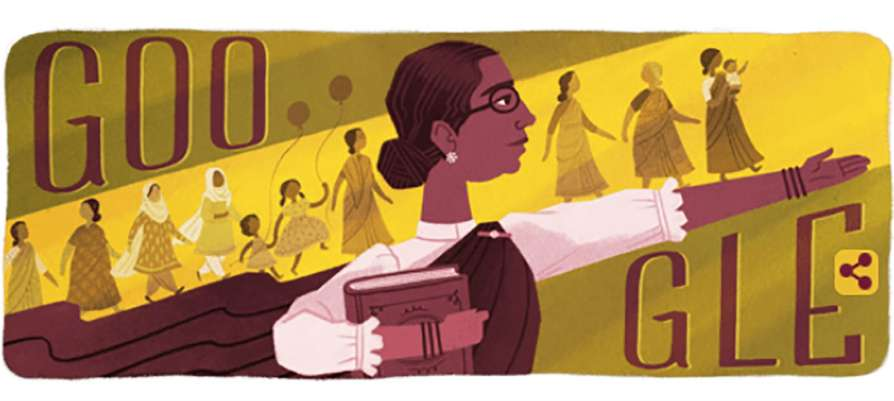 Google Doodle tribute to Dr. Muthulakshmi Reddy