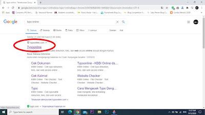 Pilih website paling atas dengan nama typoonline.com