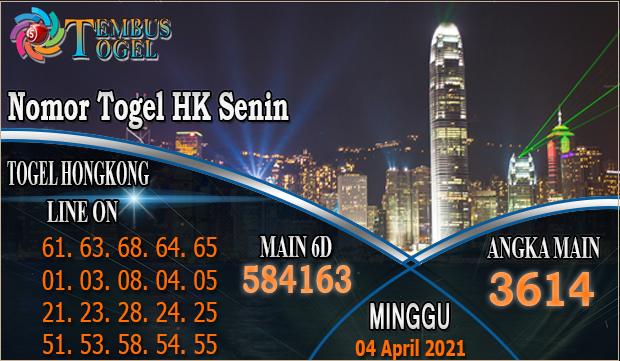 Nomor Tembus Togel HK - Minggu Tanggal 04 Maret 2021
