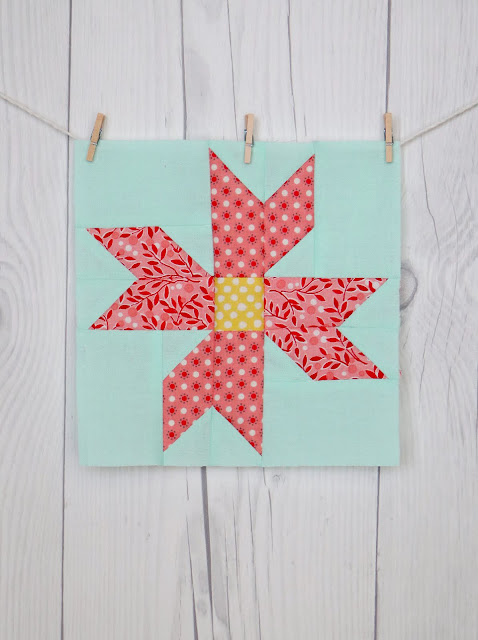Poinsetta quilt block by Andy of A Bright Corner - from the Vintage Christmas quilt book