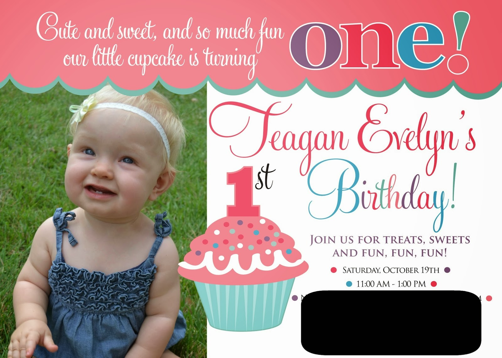 Doc1225536 1st Birthday Invitation Message Examples 1st – Baby Girl First Birthday Party Invitations