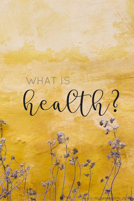 "I'm asking the question ""what is health?"". Come on over and join the discussion!"