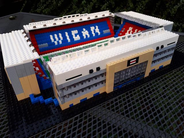 Wigan Athletic - DW Stadium - In Lego!