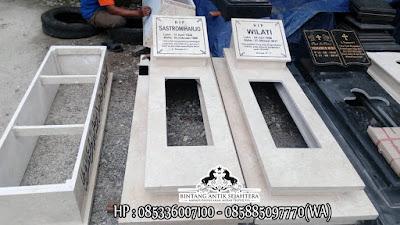 Model Kuburan Minimalis | Kijing Makam Marmer 2 Tingkat