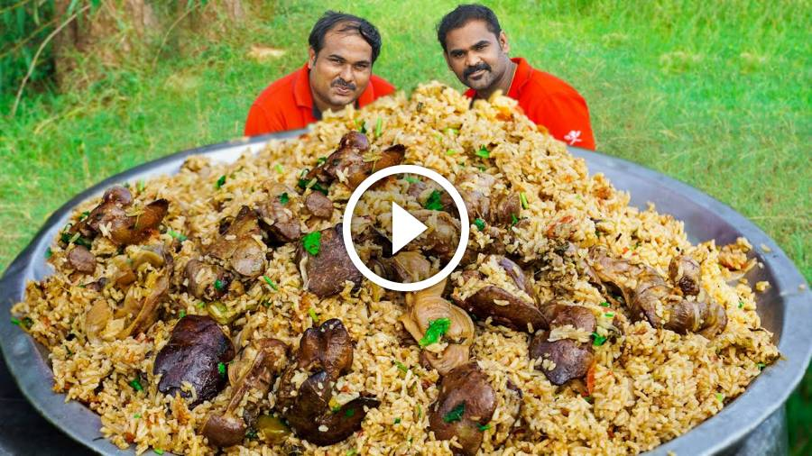 LIVER BIRYANI | Country Chicken Liver Biryani | World Food Tube